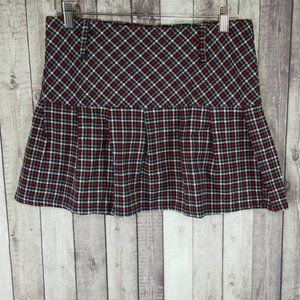 Candie's girls pleated plaid mini skirt